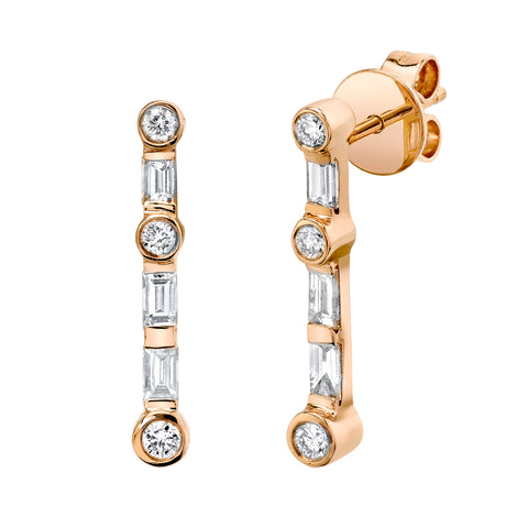 MIX DIAMOND DROP EARRINGS - EMAIL FOR PRICING