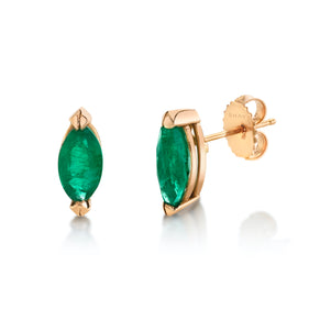 MARQUISE EMERALD STUDS