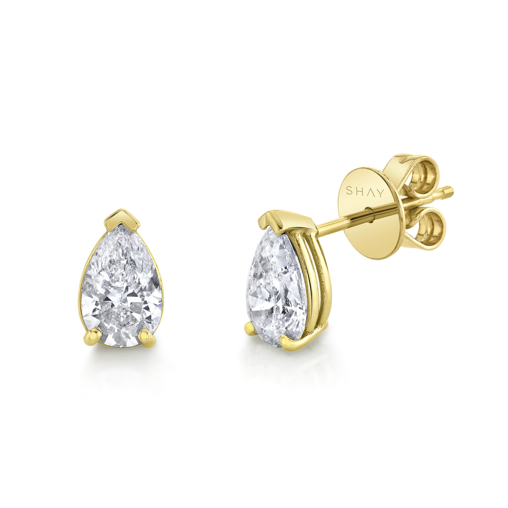 DIAMOND PEAR STUDS