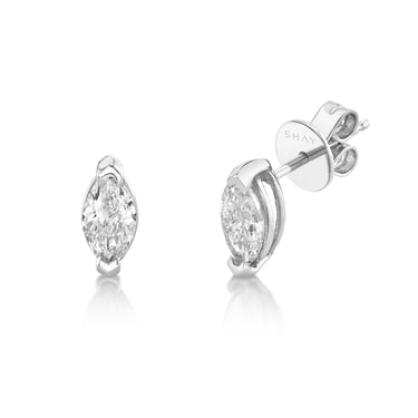 SOLITAIRE MARQUISE DIAMOND STUDS