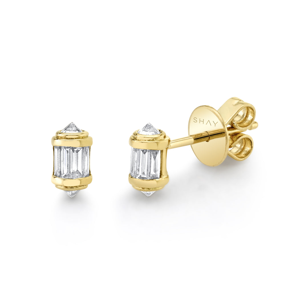 DIAMOND SINGLE RIPPLE STUDS