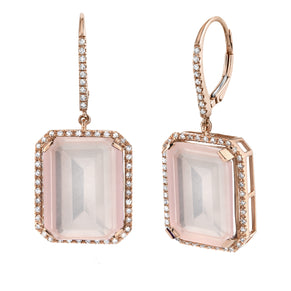 LIGHT PINK CRYSTAL PORTRAIT EARRINGS