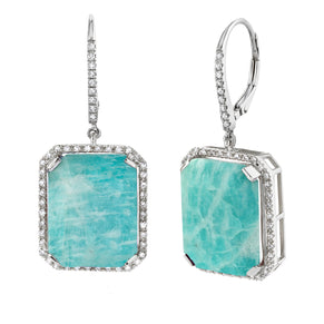 AMAZONITE PORTRAIT EARRINGS
