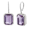 AMETHYST PORTRAIT EARRINGS