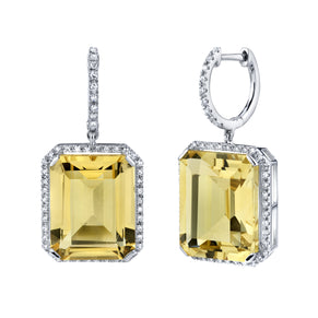 PORTRAIT YELLOW TOPAZ EARRINGS
