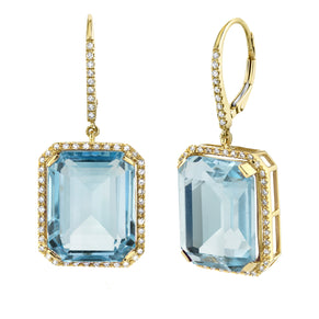 LIGHT BLUE CRYSTAL PORTRAIT EARRINGS