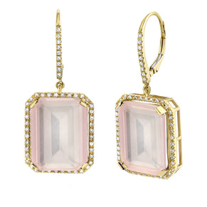 READY TO SHIP LIGHT PINK CRYSTAL PORTRAIT EARRINGS