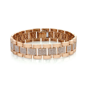 DIAMOND PARTIAL PAVE JOURNEY BRACELET