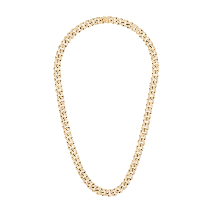 DIAMOND PAVE FLAT LINK NECKLACE