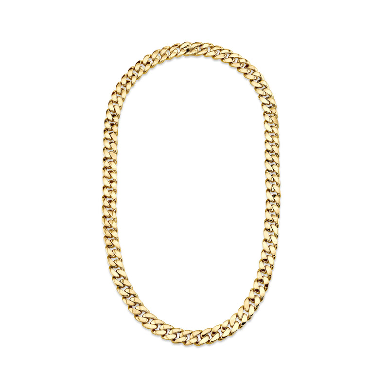 SOLID GOLD FLAT LINK NECKLACE