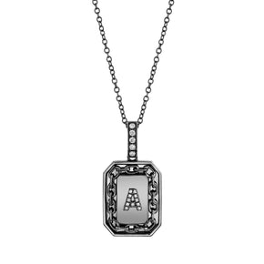 PAVE INITIAL LINK NAMEPLATE NECKLACE