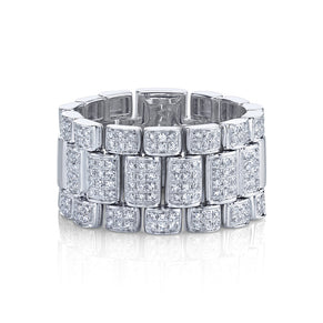 READY TO SHIP PAVE RAIL LINK RING