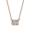 EMERALD CUT ILLUSION PENDANT