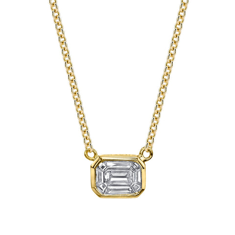 DIAMOND SOLITAIRE HEART NECKLACE