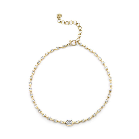 JUMBO ALTERNATING PAVE LINK NECKLACE