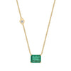 COLOMBIAN EMERALD PENDANT LINK NECKLACE