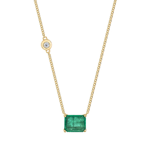 DOT-DASH GEMSTONE & DIAMOND NECKLACE