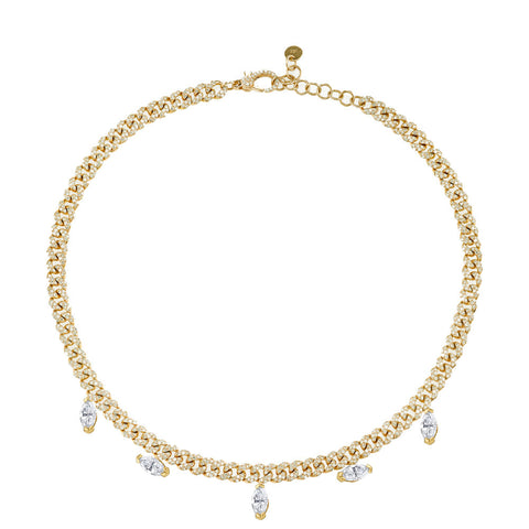 ILLUSION BAGUETTE DROP CHOKER