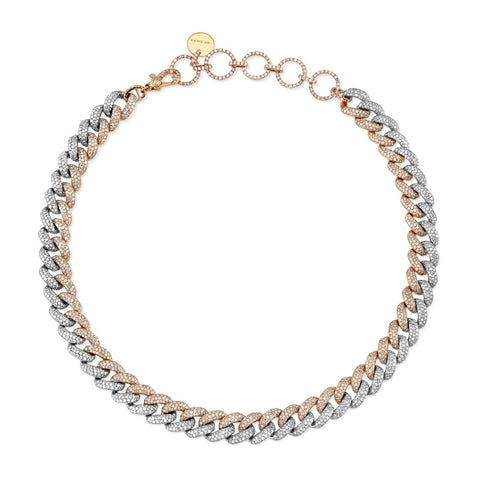 BABY PAVE LINK NECKLACE