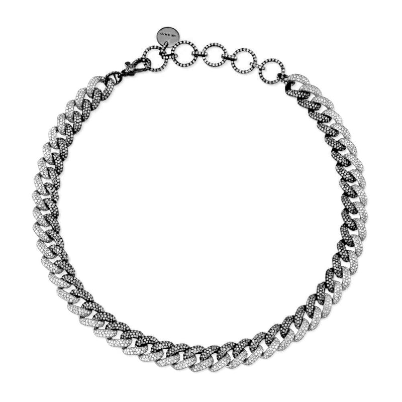 DIAMOND PAVE TWO-TONE ESSENTIAL LINK CHOKER
