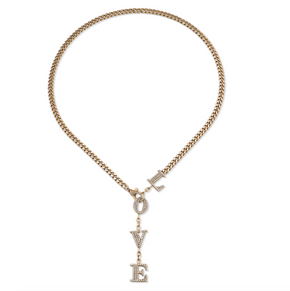 DIAMOND LOVE  BABY LINK Y NECKLACE