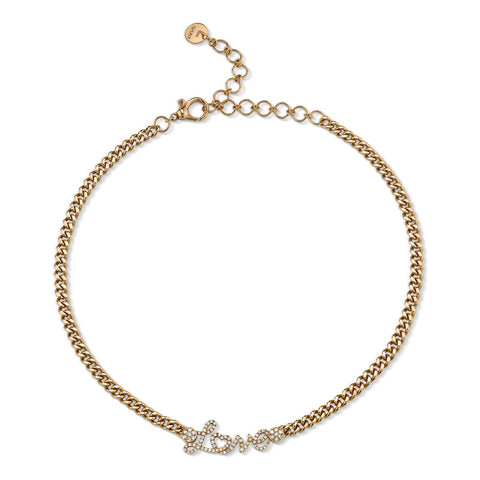 MINI SOLID GOLD LINK NECKLACE