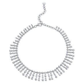 TRIPLE MIXED DIAMOND NECKLACE