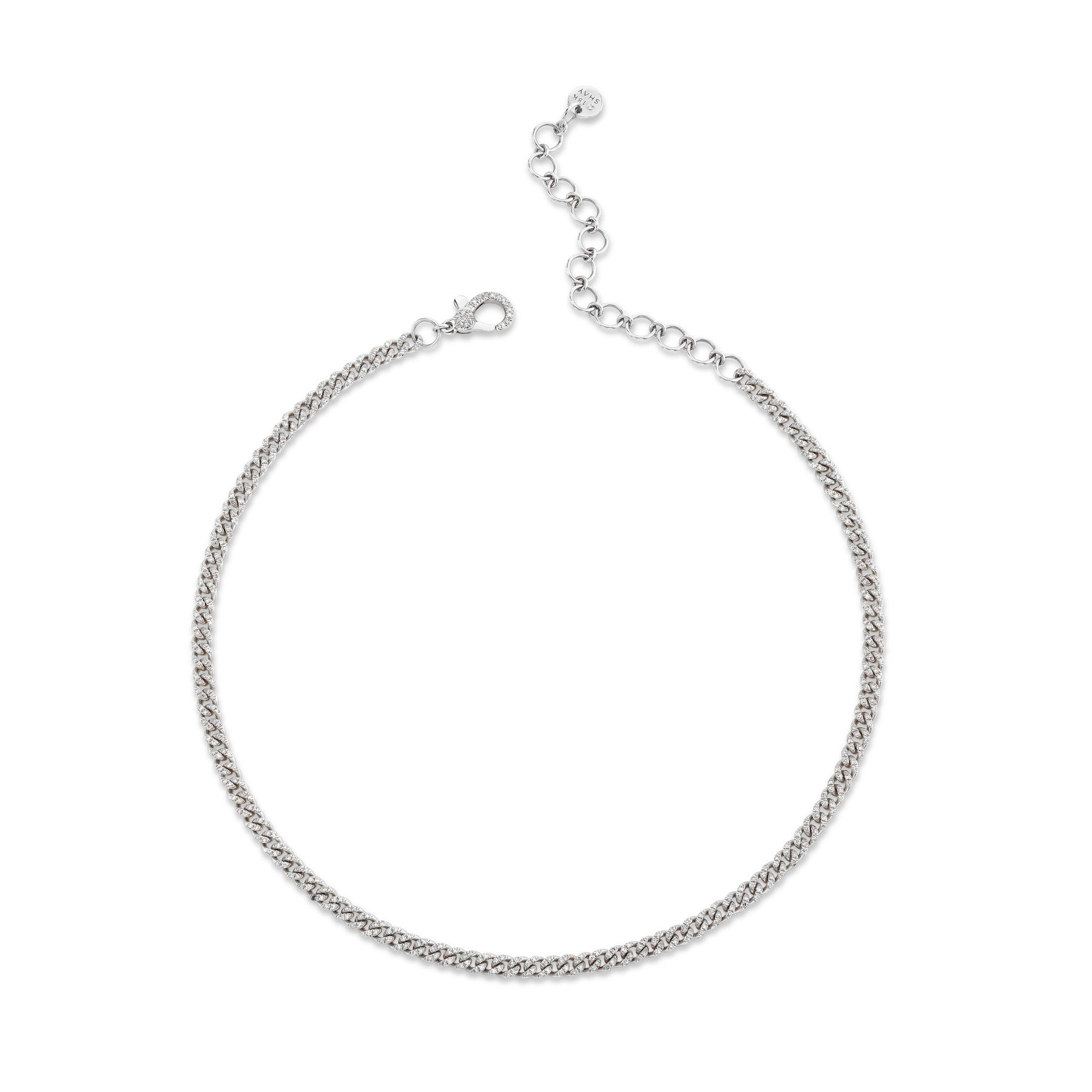 DIAMOND PAVE BABY LINK NECKLACE