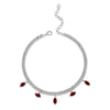 MARQUISE RUBY DROP LINK NECKLACE