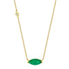 EMERALD MARQUISE PENDANT NECKLACE