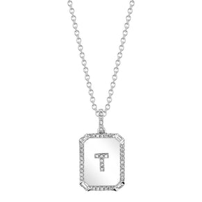 INITIAL MINI NAMEPLATE NECKLACE