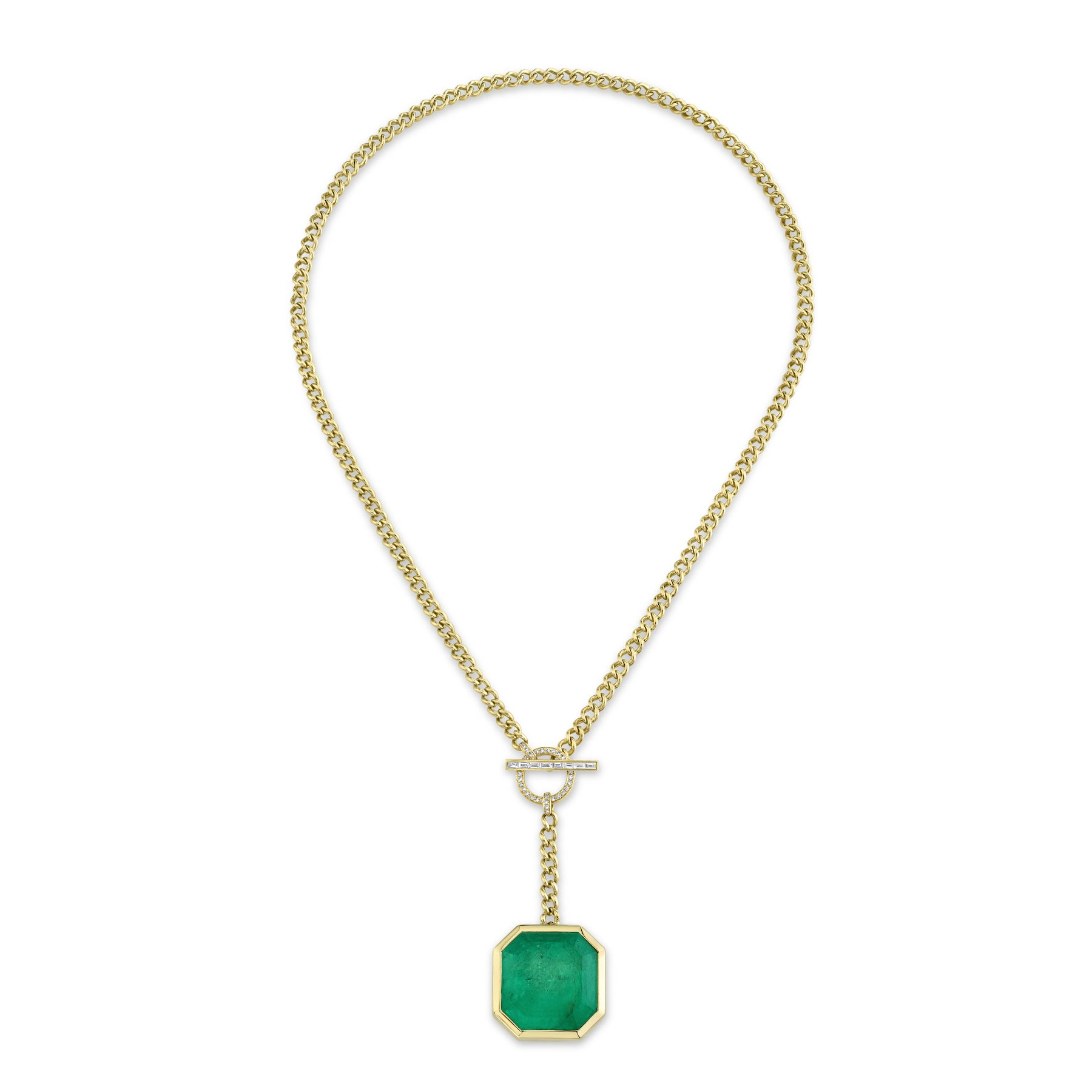 COLOMBIAN EMERALD Y DROP LARIAT