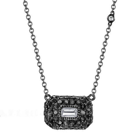 PAVE BAGUETTE RUBY NECKLACE