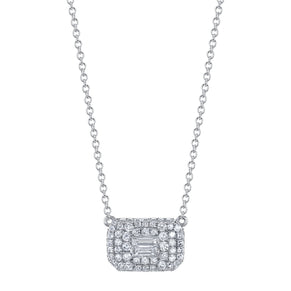 DIAMOND PAVE BAGUETTE NECKLACE