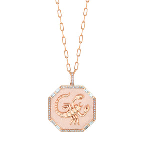 READY TO SHIP ZODIAC DISK NECKLACE