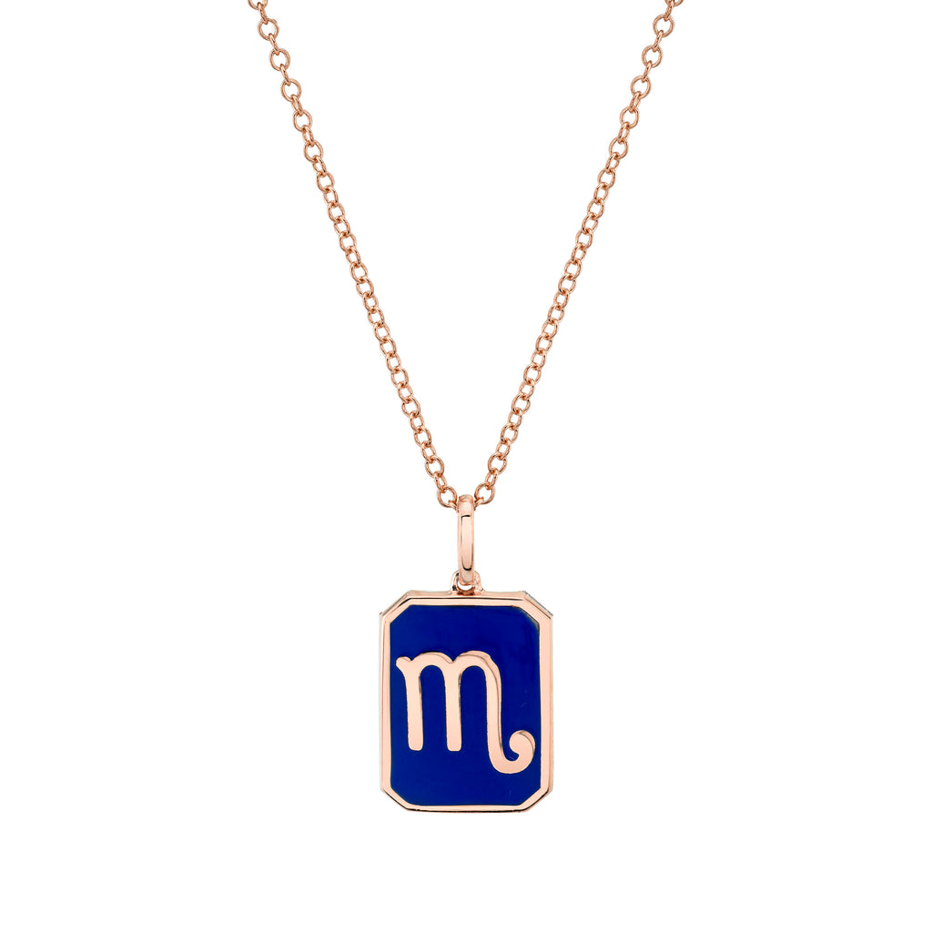 ZODIAC MINI NAMEPLATE NECKLACE