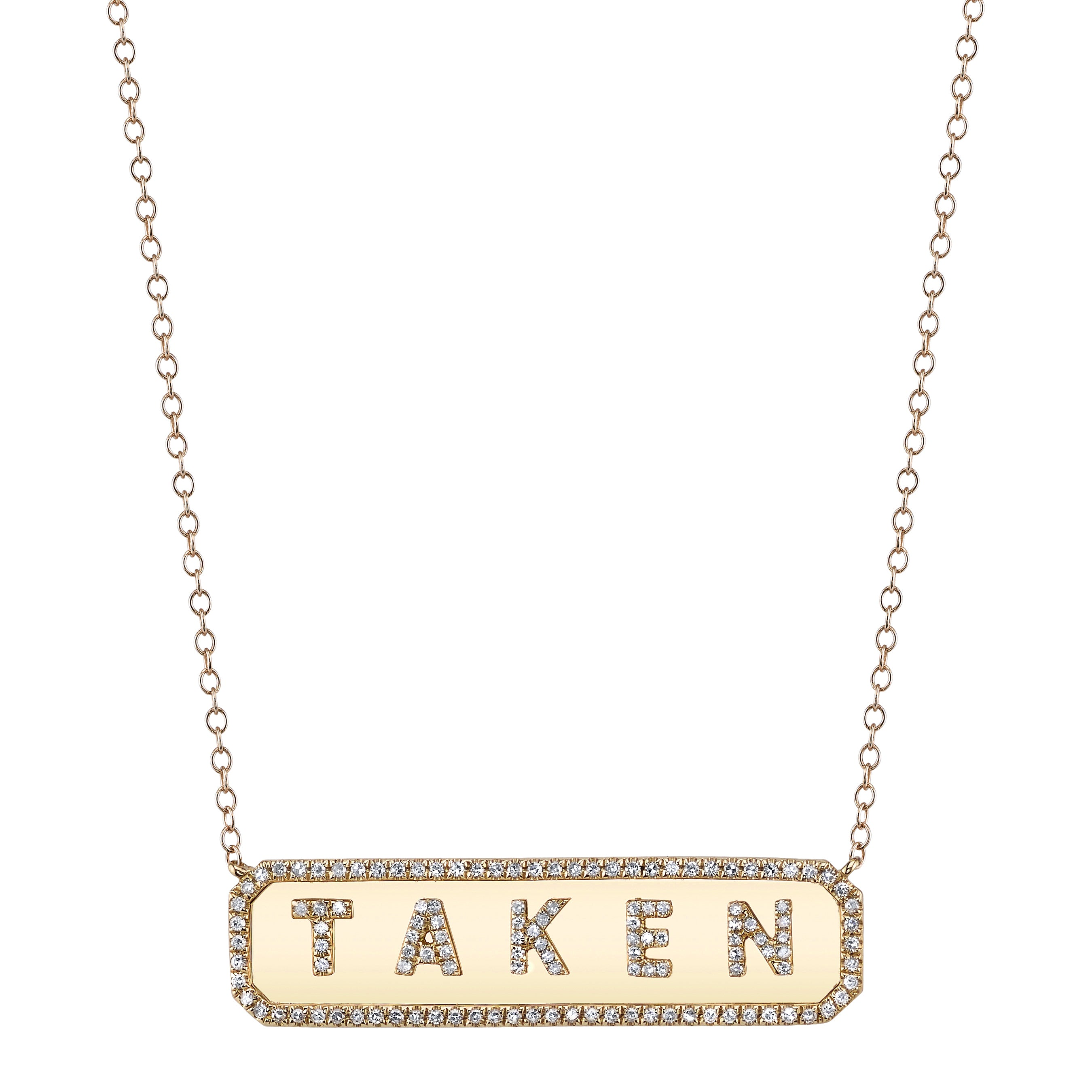 HORIZONTAL PERSONALIZED NAMEPLATE NECKLACE