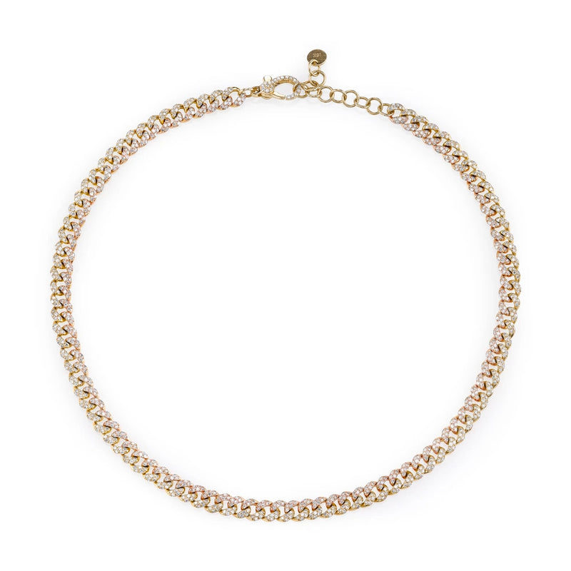 TWO-TONE MINI PAVE LINK CHOKER