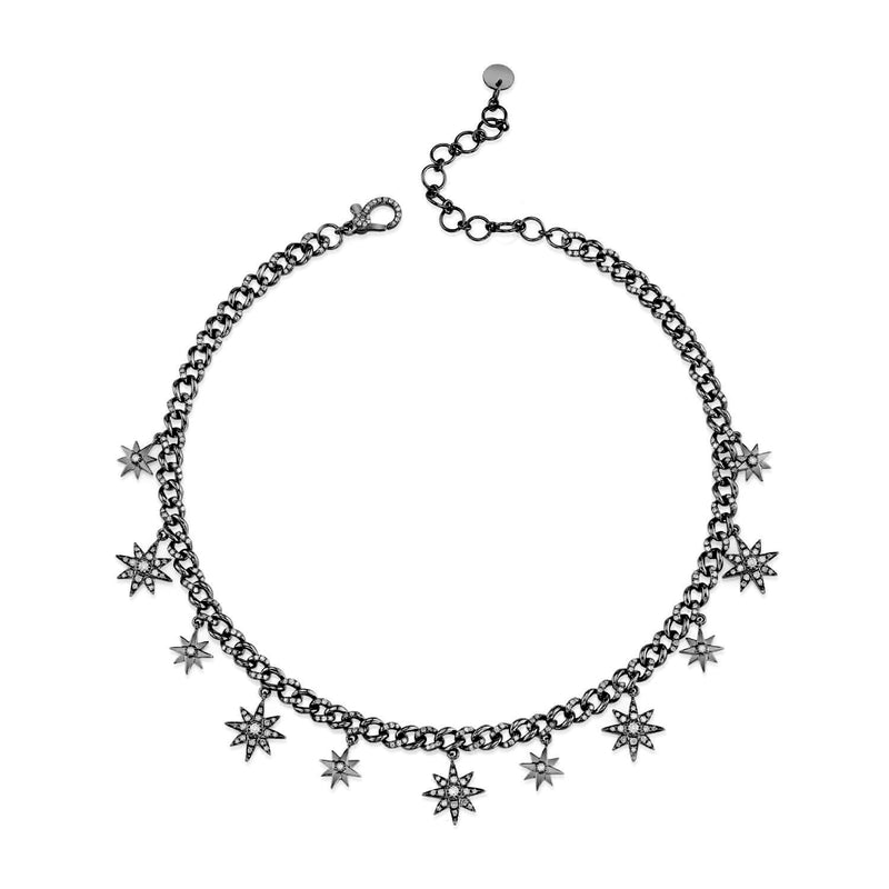 ALTERNATING STAR DROP LINK ANKLET