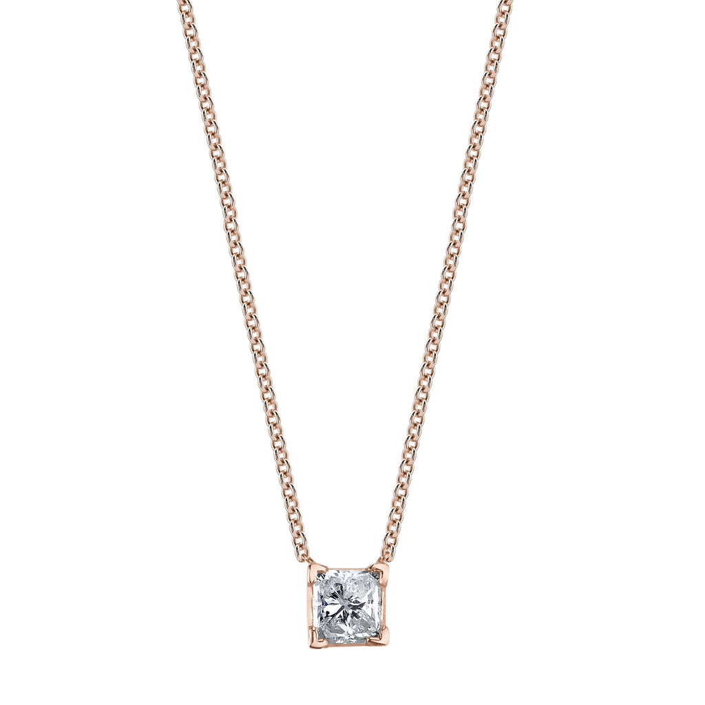 DIAMOND SOLITAIRE RADIANT NECKLACE