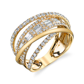 BAGUETTE ORBIT RING