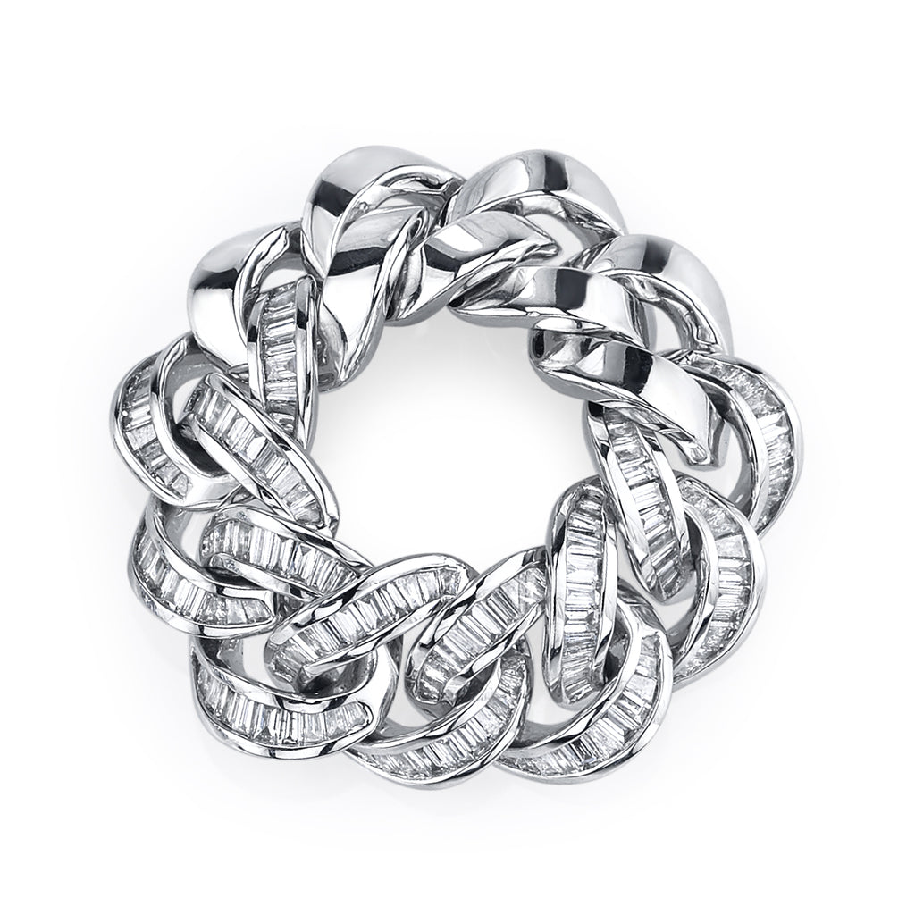 BAGUETTE DIAMOND JUMBO LINK RING