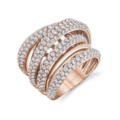 PAVE HALO WATCHLINK INITIAL RING