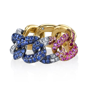 RAINBOW PAVE ESSENTIAL LINK RING