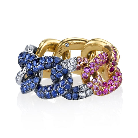 DIAMOND HEART PAVE PINKY RING