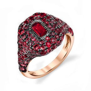 RUBY PAVE PINKY RING