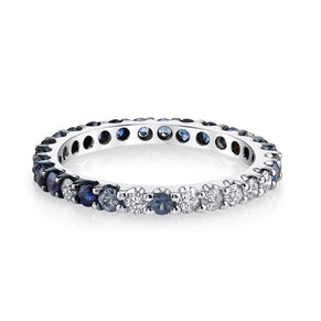 SAPPHIRE OMBRE ETERNITY BAND