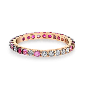 RUBY OMBRE ETERNITY BAND