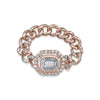 PAVE HALO ILLUSION BABY LINK RING