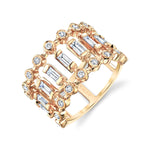 DIAMOND DOT-DASH DIAMOND RING